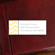 Chevron Address Label