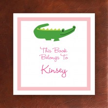 Alligator Pink Square Sticker