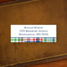 Madras Patch Blue Address Label