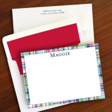 Thin Blue Madras Patch Correspondence Cards