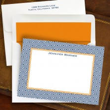 Greek Key Correspondence Cards