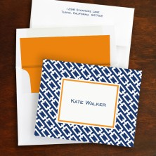 Chain Link Navy Fold Notes