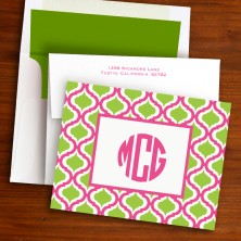 Kate Raspberry & Lime Fold Notes