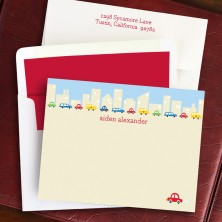 Cars in the City Correspondence Cards