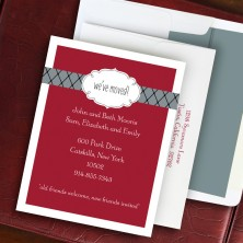 Label Chic Moving Cranberry Correspondence Cards