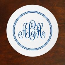 DYO Letterpress Coasters - with Monogram