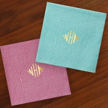 Caspari® Lizard Cocktail Napkins - with Monogram