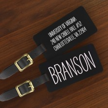 Colorful Engraved Luggage Tags Name