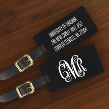 Colorful Engraved Luggage Tags  Monogram