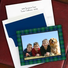 Black Watch Plaid Photo Card
