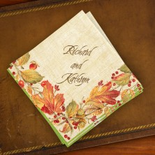 Caspari® Autumn Leaves Cocktail Napkins