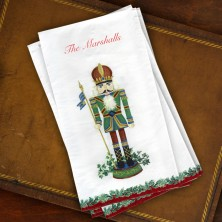 Caspari® Nutcracker Guest Towels