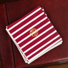 Caspari® Red Stripe Cocktail Napkins