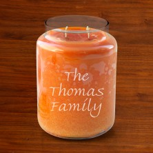 Crossroads® Personalized Candles - Pumpkin Pie