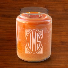 Crossroads® Personalized Candles - with Monogram - Pumpkin Pie