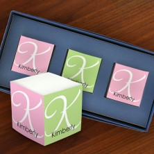 Decorative Mini Self Stick Memo Cubes - Format 4
