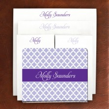 Designer Acrylic Holder & Memo Pad Set - 08-Victorian Lattice