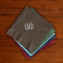 Designer Foil Cocktail Napkins - with Monogram