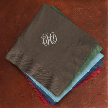 Designer Foil Luncheon Napkins - with Monogram