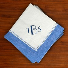 Elegant Caspari® Cocktail Napkins - with Monogram