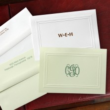 Embossed Border Designer Notes - with Monogram