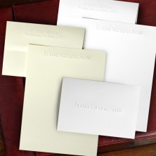 embossed stationery ensemble - Personalized Embossed Note Cards