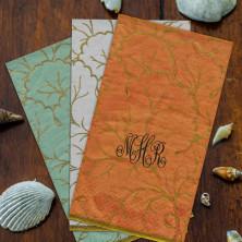 Aqua Sanibel Guest Towels Monogram