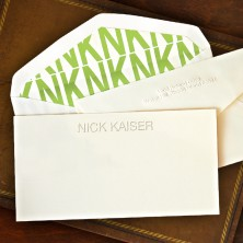 Initially Yours Slender Card - with Name