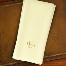 Ivory Foil Guest Towels - with Monogram