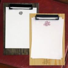 Aspen Memo & Wood Clipboard Set - Monogram