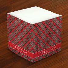 Merrimade Self Stick Memo Cubes - Tartan