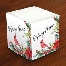 Merrimade Self Stick Memo Cubes - Cardinal