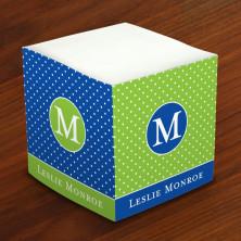 Merrimade Self Stick Memo Cubes - Glorious Dots