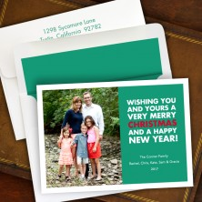 Christmas Wishes Emerald Photocard