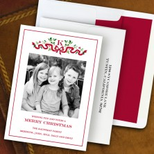 Ribbon Holiday Photocard