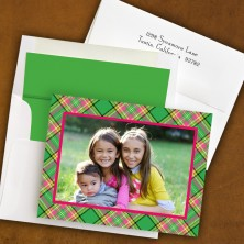 Preppy Plaid Folded Photocard