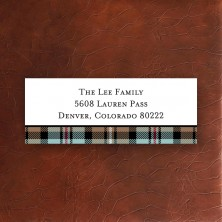 Kelso Plaid Mocha Address Label