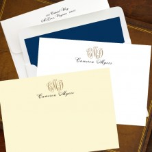 Designer Foil Icon Correspondence Cards - with Monogram
