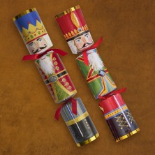 Caspari® Holiday Crackers - Nutcrackers