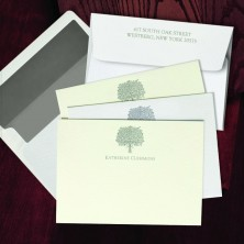 Prentiss Letterpress Correspondence Cards - Bouquet