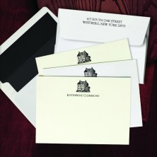 Prentiss Letterpress Correspondence Cards - House