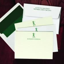 Prentiss Letterpress Correspondence Cards - Golfer