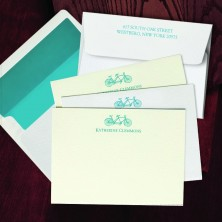 Prentiss Letterpress Correspondence Cards - Bike