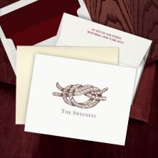 Prentiss Letterpress Fold Note -  Knot