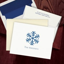 Prentiss Letterpress Fold Note -  Snowflake