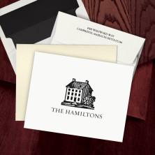 Prentiss Letterpress Fold Note -  House Design