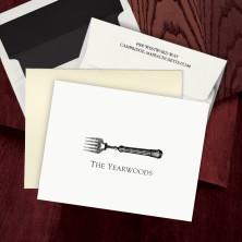 Prentiss Letterpress Fold Note -  Fork