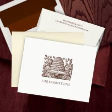Prentiss Letterpress Fold Note -  Hive