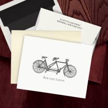 Prentiss Letterpress Fold Note -  Bike