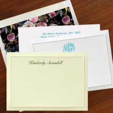 Double Thick Letterpress Embossed Bordered Cards